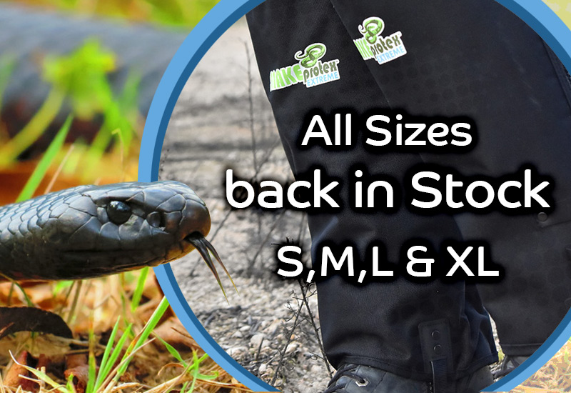 SnakeProtex Gaiters are Back in Stock - Decemeber 2018