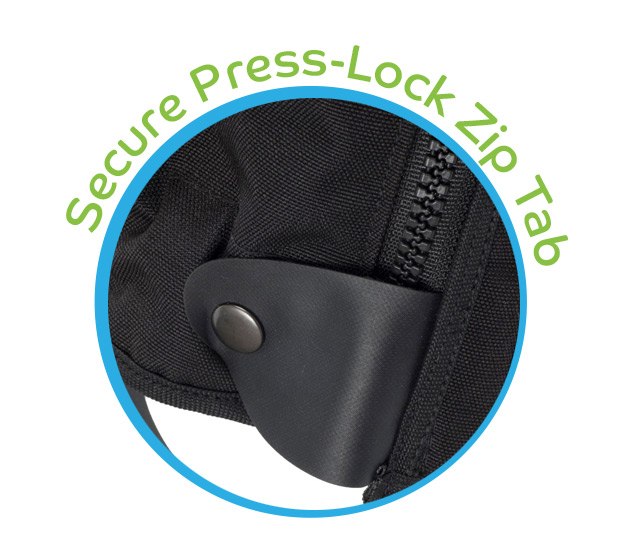 Secure Press-Lock Zip Tab - SnakeProtex Gaiter Features