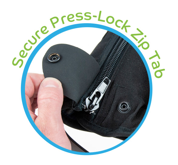 Secure Press Lock Zip Tab with new higher quality Zip* - Jan 2020 stock onwards